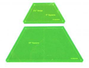 Half Hexagon Templates