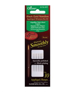 Clover-4971-Black-Gold-Hand-Sewing-Needles-Appliqué-Sharps-10