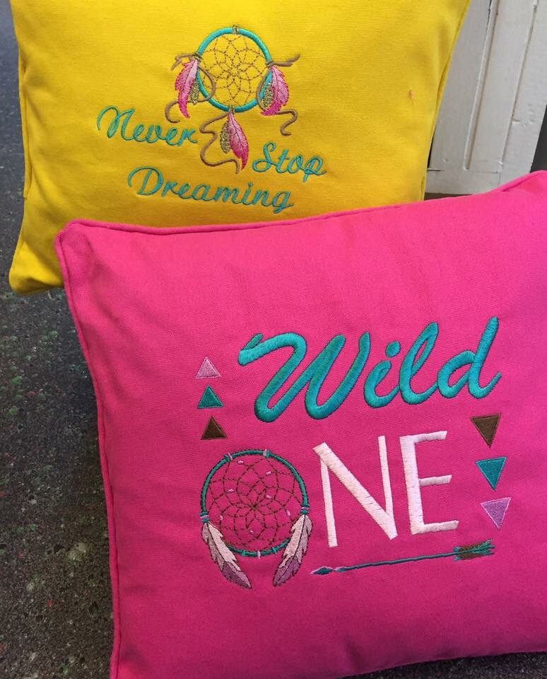 Custom Embroidered Cushions