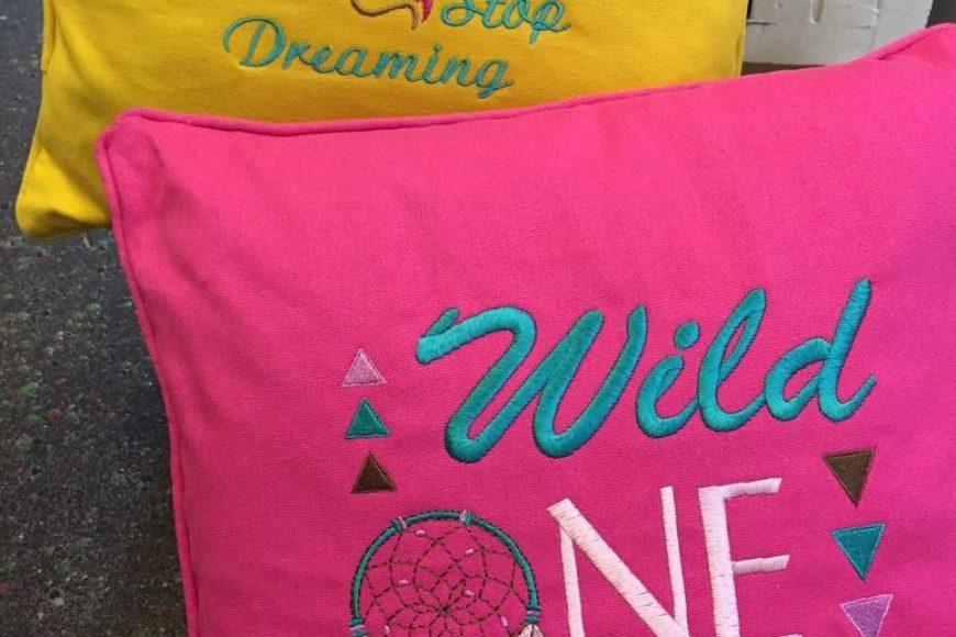 Custom Embroidered Cushions