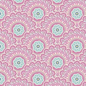 Tilda Fabrics 481499-cabbage-flower-purple