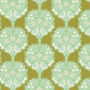 Tilda Fabrics 481503-flower-tree-green