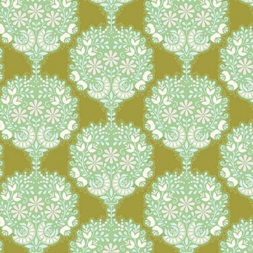 Tilda Fabrics 481503-flower-tree-green
