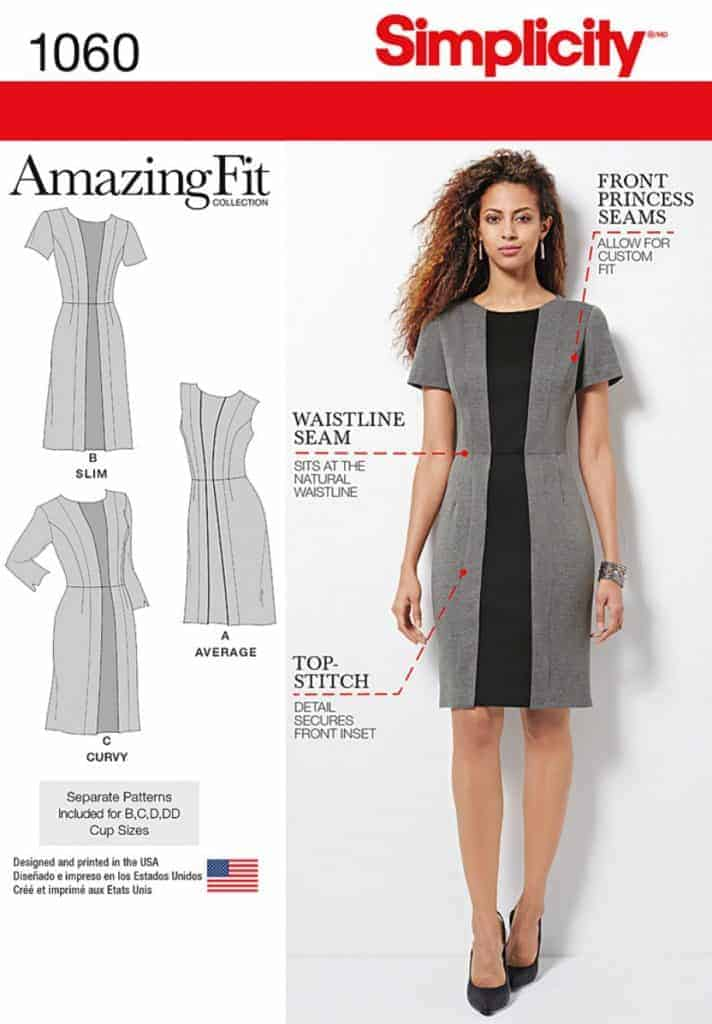 Discontinued) Simplicity Sewing Pattern 1060-AA - Misses & Plus Size ...