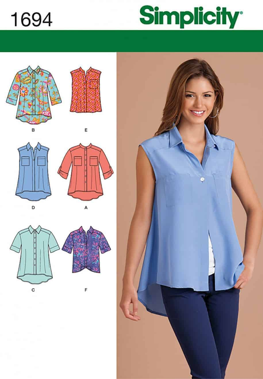 (DISCONTINUED)-Simplicity Sewing Pattern 1694 - Misses' Tops