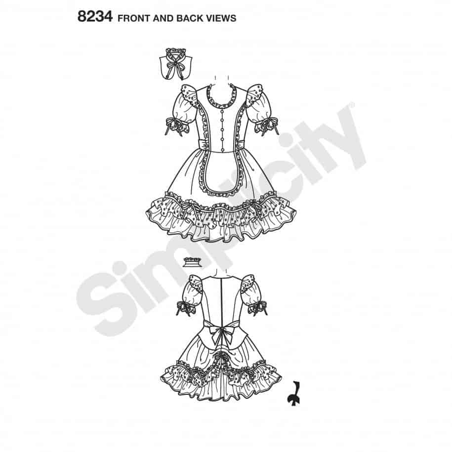 Simplicity Sewing Pattern 8234-R5 - Misses\' Alice in Wonderland ...