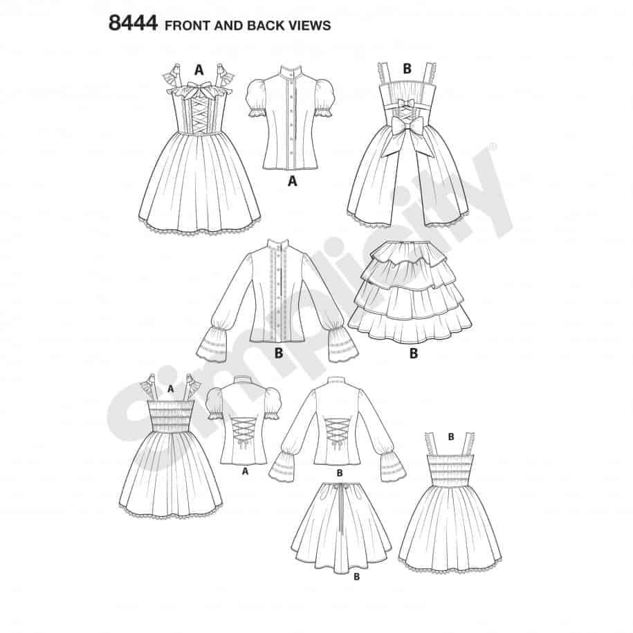 Simplicity Sewing Pattern 8444-P5 -Lolita Costume | ALISELLOU DESIGNS