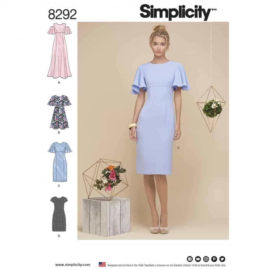05bcb3f7a53b5 Simplicity Sewing Pattern 8292-R5 - Misses' Dresses | Alisellou ...