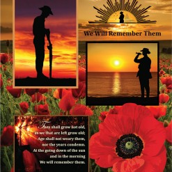 Remembering the Anzacs Fabric Panel 7117O