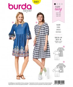Swingy dresses with a loose fit are wonderfully easy and comfortable to wear. Choose between traditional sleeves with sleeve bands or newer style sleeves with frills. Great fashion for everyday.