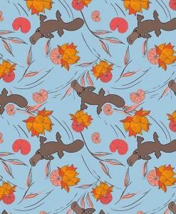 Monotremes & Marsupials 110cm 100% Cotton B