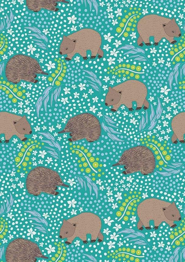 Monotremes & Marsupials 110cm 100% Cotton C