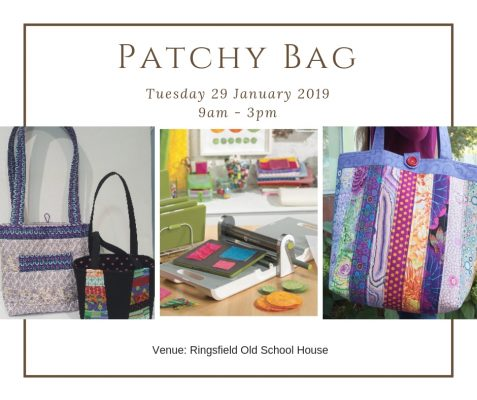 AccuQuilt Patchy Bag – with Maureen @ Alisellou Designs Sewing Centre