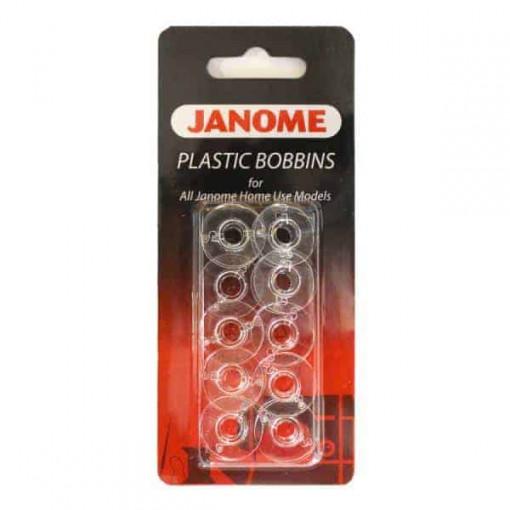 Janome Plastic Bobbins 10 Pack