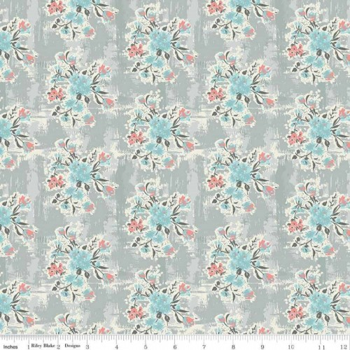 Abbie Floral Gray C7711-GRAY