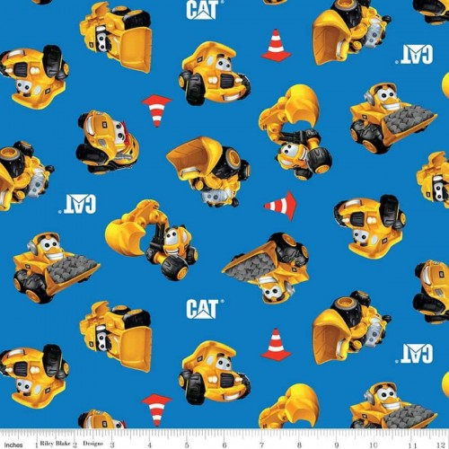 CAT® Buildin' Crew Wigglers All Over Blue C8101-BLUE