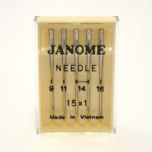 Genuine Janome – Machine Needles 15×1 Size Mixed