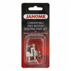 Janome Convertible Free Motion Quilting Foot Set - High Shank