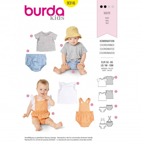 Burda Style Pattern - B-9316