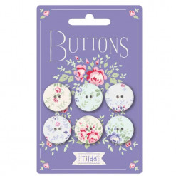 Tilda Old Rose Buttons 400028