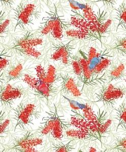 Aussie Flower Garden - Birds In Brush F